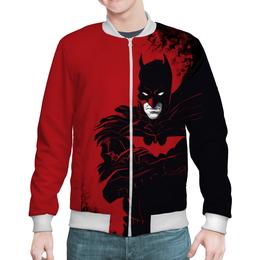 "Бомбер мужской ""Бэтмен / Batman"" - комикс, рисунок, кино, бэтмен"
