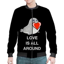"""Бомбер """"Love. Тюлень. Любовь."""" - любовь, счастье, отношения, подарок, любимым"""