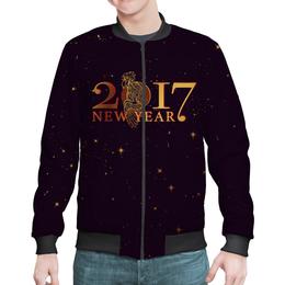 "Бомбер ""Новый год 2017"" - подарок, символ года, петух, год петуха, rooster"