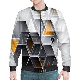 """Бомбер """"Без названия"""" - узор, графика, треугольники, сетка, многогранник"""