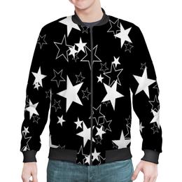 """Бомбер мужской """"звезды космос фэнтези.звездопад"""" - звезда, звездные войны, звездопад"""
