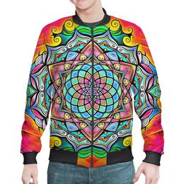 """Бомбер """"Mandala HD2"""" - узор, ретро, классика, этно, симметрия"""