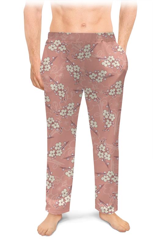 Мужские пижамные штаны Printio Ветки цветущей вишни цена и фото