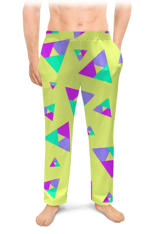 Мужские пижамные штаны Printio Треугольник 1