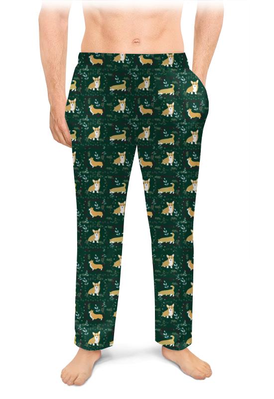 Мужские пижамные штаны Printio Узоры с корги