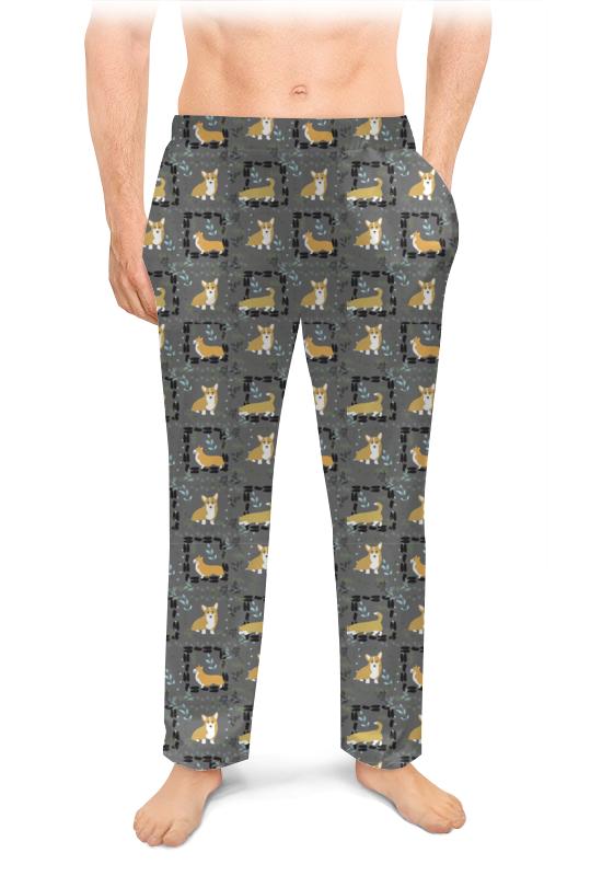 Мужские пижамные штаны Printio Узор корги