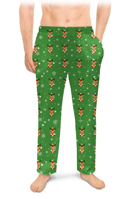 Мужские пижамные штаны Printio олени
