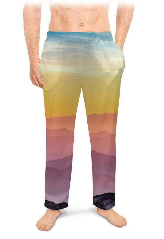 Мужские пижамные штаны Printio Без названия