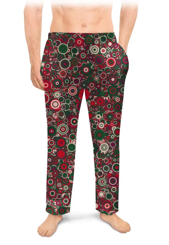 Мужские пижамные штаны Printio Круги пижамные комплекты