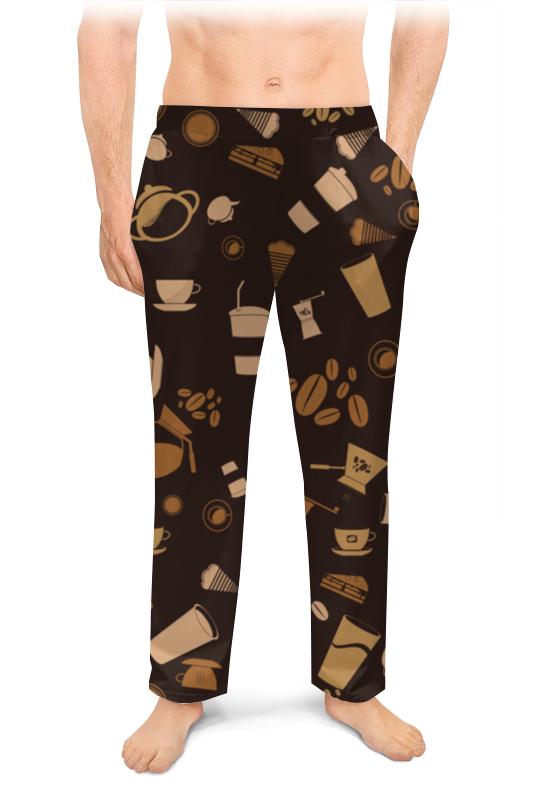 Мужские пижамные штаны Printio Кофе.