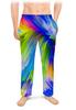 """Мужские пижамные штаны """"Abstract Rainbow"""" - радуга, цвета, краски, абстракция"""