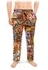 """Мужские пижамные штаны """"Оранжевый дом."""" - арт, узор, абстракция, фигуры, текстура"""