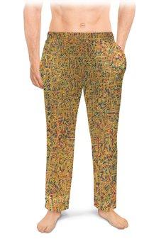 "Мужские пижамные штаны ""Сандал"" - арт, узор, абстракция, фигуры, текстура"