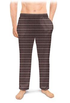 """Мужские пижамные штаны """"Орнамент Петельки"""" - орнамент, абстракция, арт абстракция"""