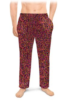 """Мужские пижамные штаны """"Карамель."""" - арт, узор, абстракция, фигуры, текстура"""