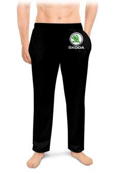 """Мужские пижамные штаны """"SKODA"""" - авто, машина, мото, шкода, skoda"""
