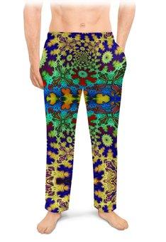 """Мужские пижамные штаны """"Тропический Мираж"""" - праздник, лето, подарок, абстракция, мужчине"""