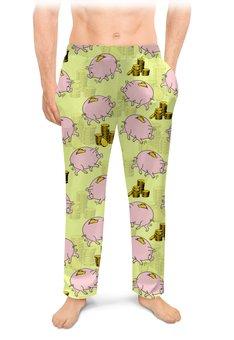 """Мужские пижамные штаны """"СВИНКА 2019"""" - стиль, символ, копилка, свинья, монеты"""