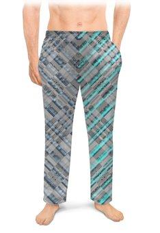 """Мужские пижамные штаны """"Неон большого города."""" - графика, абстракция, фантазия, неон, лофт"""
