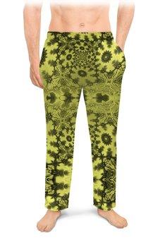 """Мужские пижамные штаны """"Тропический Мираж Альт С"""" - праздник, лето, желтый, подарок, мужчине"""