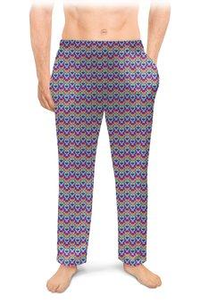 """Мужские пижамные штаны """"Абстракция.  Кольца"""" - абстракция, кольца, геометрический орнамент"""