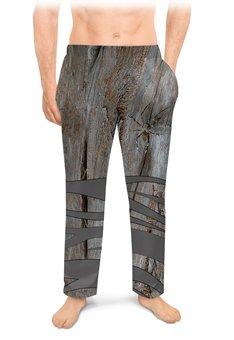 """Мужские пижамные штаны """"Макро мир."""" - насекомое, паук, пауки, макро мир, древесина"""