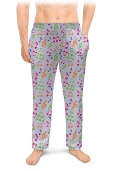 """Мужские пижамные штаны """"МУЗЫКАЛЬНАЯ"""" - стиль, красота, абстракция, ноты, скрипичный ключ"""