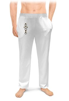 """Мужские пижамные штаны """"Любовь"""" - любовь, клубничка, классическая"""