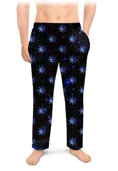 """Мужские пижамные штаны """"ЗВЕЗДОПАД"""" - звезды, космос, абстракция, стиль эксклюзив креатив красота яркость, арт фэнтези"""