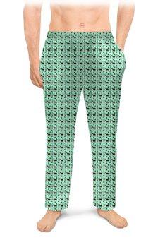 """Мужские пижамные штаны """"Олени в лесу. Графика"""" - арт, лес, олени, животные и природа"""