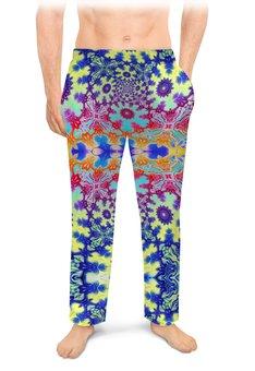 """Мужские пижамные штаны """"Тропический Мираж Альт"""" - праздник, лето, подарок, абстракция, мужчине"""