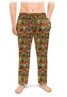 """Мужские пижамные штаны """"СТИКЕРЫ.КОМИКСЫ"""" - абстракция, стиль надпись логотип яркость, стиль эксклюзив креатив красота яркость, арт фэнтези"""