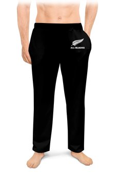 """Мужские пижамные штаны """"Новая Зеландия регби"""" - спорт, регби, новая зеландия, регби стиль"""