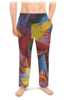 "Мужские пижамные штаны ""Пластичные формы лошади (картина Умберто Боччони)"" - картина, живопись, футуризм, кубизм, боччони"