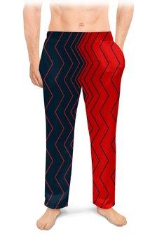 """Мужские пижамные штаны """"Вибрация, с выбором цвета"""" - волна, абстракция, волны, линии, вибрация"""