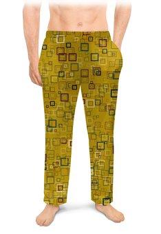 "Мужские пижамные штаны ""Квадраты"" - квадрат, яркий"