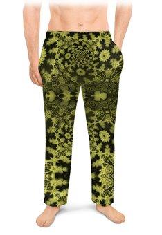 """Мужские пижамные штаны """"Тропический Мираж С"""" - праздник, черный, интерьер, подарок, мужчине"""