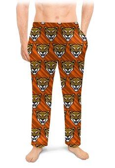 """Мужские пижамные штаны """"ЛЕОПАРДЫ"""" - животные, абстракция, стиль эксклюзив креатив красота яркость, арт фэнтези"""