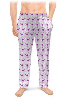 """Мужские пижамные штаны """"Розовые фламинго"""" - розовый, природа, закат, фламинго, в тренде"""
