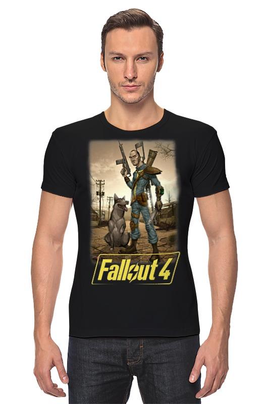 Футболка Стрэйч Printio Fallout 4 футболка классическая printio fallout фэллаут