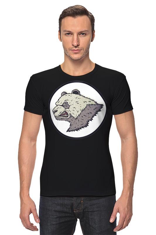 Футболка Стрэйч Printio Angry panda / злая панда