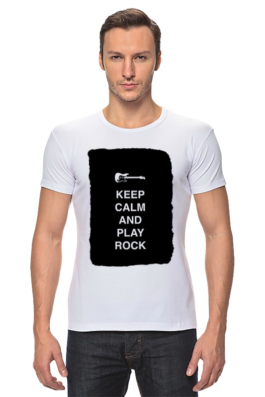 Футболка Стрэйч Printio Keep calm and play rock футболка wearcraft premium printio keep calm