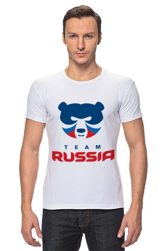 Футболка Стрэйч Printio Russia team russia culinary guidebook
