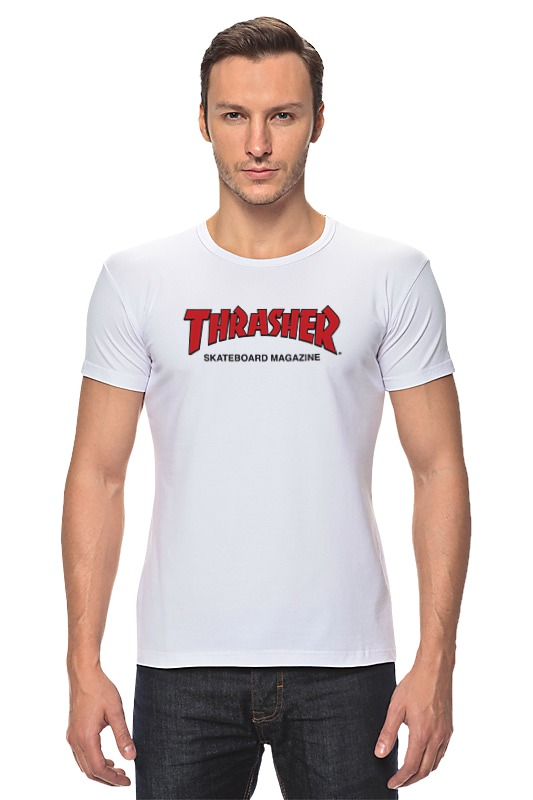 Футболка Стрэйч Printio Thrasher thrasher бейсболка thrasher skategoat mesh black grey