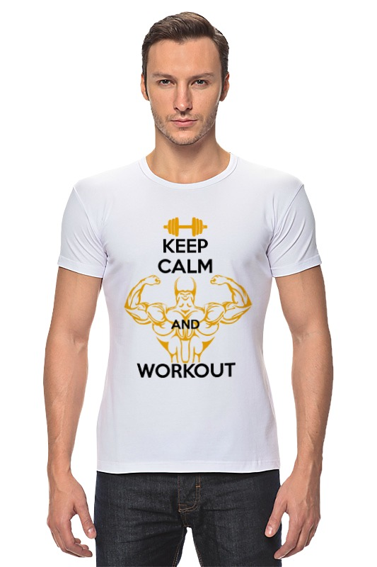 Футболка Стрэйч Printio Keep calm and workout футболка стрэйч printio keep calm and listen to 30stm