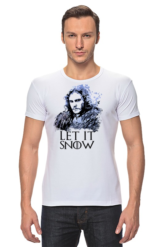 Футболка Стрэйч Printio Jon snow из сериала игра престолов (5) game of thrones jon snow wigs black curly synthetic hair
