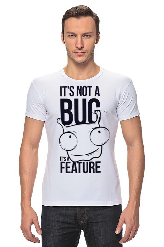 Футболка Стрэйч Printio It's not a bug like bug juice on a burger
