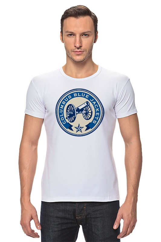 Футболка Стрэйч Printio Columbus blue jackets / nhl usa футболка wearcraft premium printio los angeles kings nhl usa