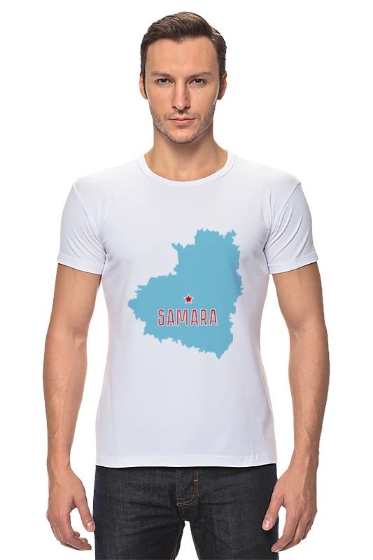 Футболка Стрэйч Printio Самарская область. самара