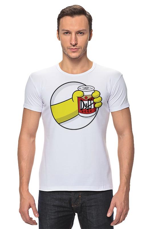 Футболка Стрэйч Printio Пиво дафф (duff beer)